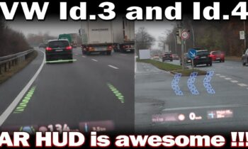 VW Id.3 and Id.4 – Augmented Reality Head up Display in Action